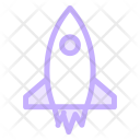 Startup Rocket Launching Icon