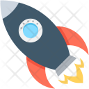 Missile Rocket Startup Icon