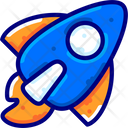 Startup Rocket Business Icon