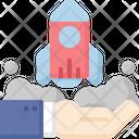 Startup Rocket Hand Icon
