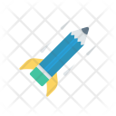 Startup Rocket Pencil Icon
