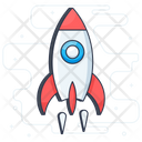 Startup Launching Rocket Icon