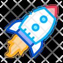 Flying Rocket Spaceship Icon