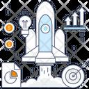 Startup Spaceship Rocket Launcher Icon