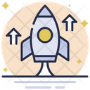 Startup Project Launch Rocket Icon