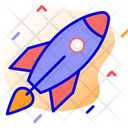 Rocket Startup Project Launch Icon