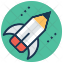 Rocket Pencil Creative Icon