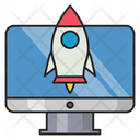 Startup Business Digital Icon