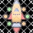 Startup Spaceship Rocket Icon