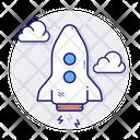 Rocket Spaceship Start Icon