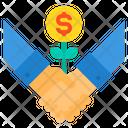 Startup Money Tree Hand Icon