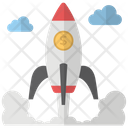 Startup Space Rocket Icon