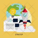 Startup Rocket Technology Icon