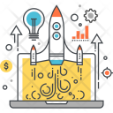 Startup Launch Rocket Icon