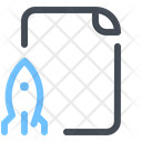 Startup Growth File Icon