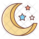 Stary Night Child Toy Moon Icon