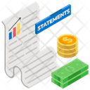 Statement Bank Slip Voucher Icon