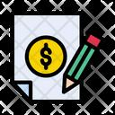 Invoice Bill Signature Icon