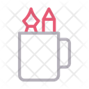 Pencil Box Cup Icon