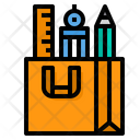 Education Tools Ruler Pencil Icon