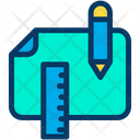 Pencil Scale Measure Icon