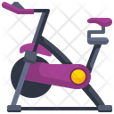 Stationary Bike Rowing Machine Exercise Cycle Icon