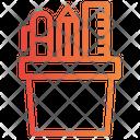 Stationary Box Pencil Holder Stationary Icon