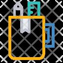 Stationary holder Icon