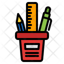 Stationary Jar Pencil Jar Pen Icon