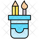 Stationary Jar Pencil Box Box Icon