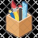 Stationary Rack Pencil Rack Pencil Box Icon