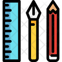 Stationery Pencil Scale Icon