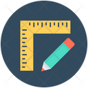 Pencil Ruler Drafting Icon