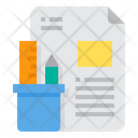 Stationery Paper Pencil Icon