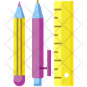 Stationaries Stationery Pencil Icon