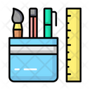 Stationery Pencil Education Icon