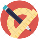Stationery Pencil Ruler Icon