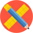 Stationery Ruler Pencil Icon