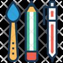Stationery Paint Brush Icon