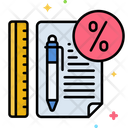 Stationery Discount Discount Discount Office Supplies Icon