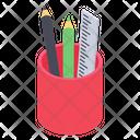 Stationery Holder Writing Tools Stationary Equipment Icon