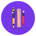 Stationery Items Stationery Educational Tools Icon