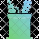 Stationery Jar Stationery Ruler Icon