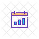 Statistic Graph Report Icon