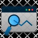 Statistic Data Analysis Internet Icon