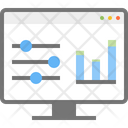 Statistic Chart Monitor Icon