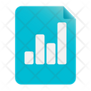 Statistic Report Growth Analysis Financial Report Icon