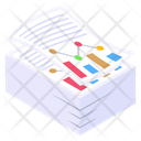 Analytical Documents Infographics Descriptive Data Icon
