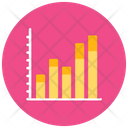 Statistical Graph Infographic Bar Chart Icon