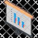 Area Graph Presentation Area Graph Graphical Representation Icon
